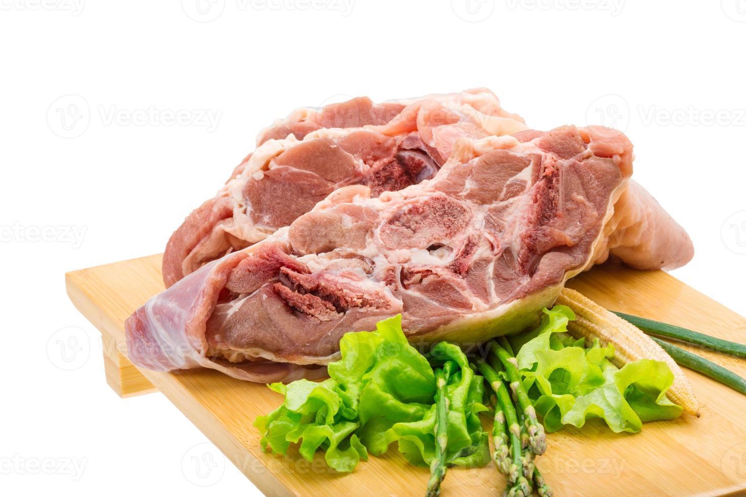 Raw lamb photo