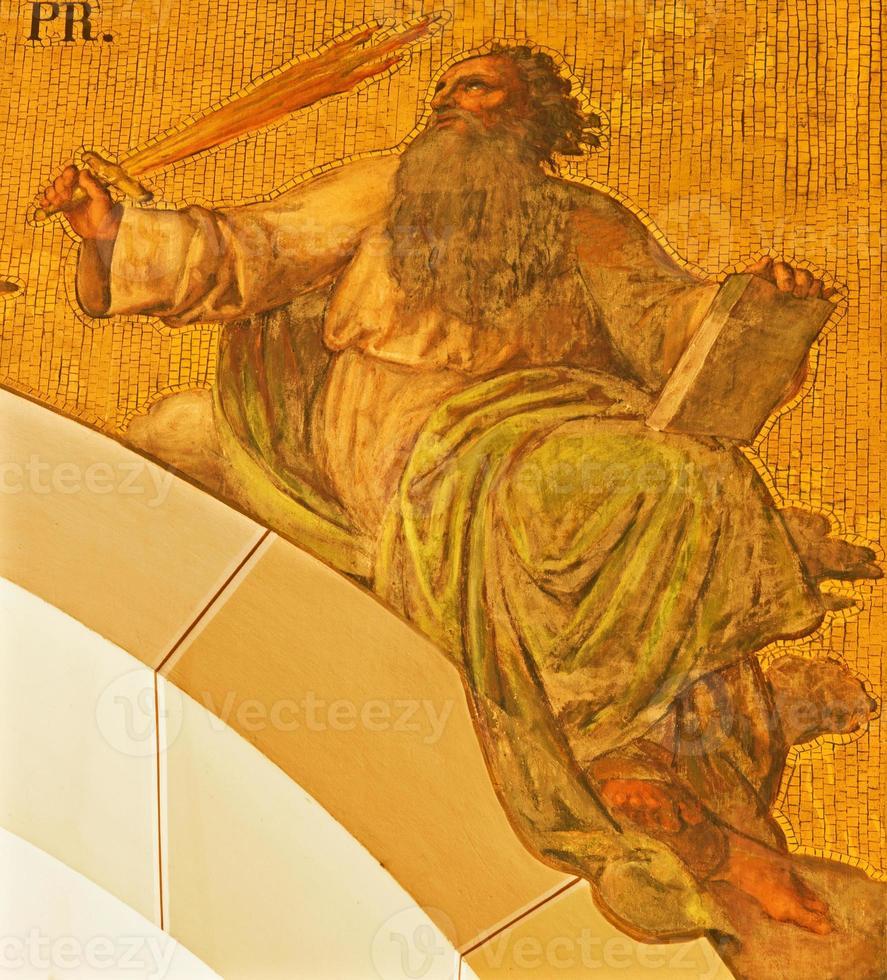 Vienna - The fresco of prophet Elijah photo