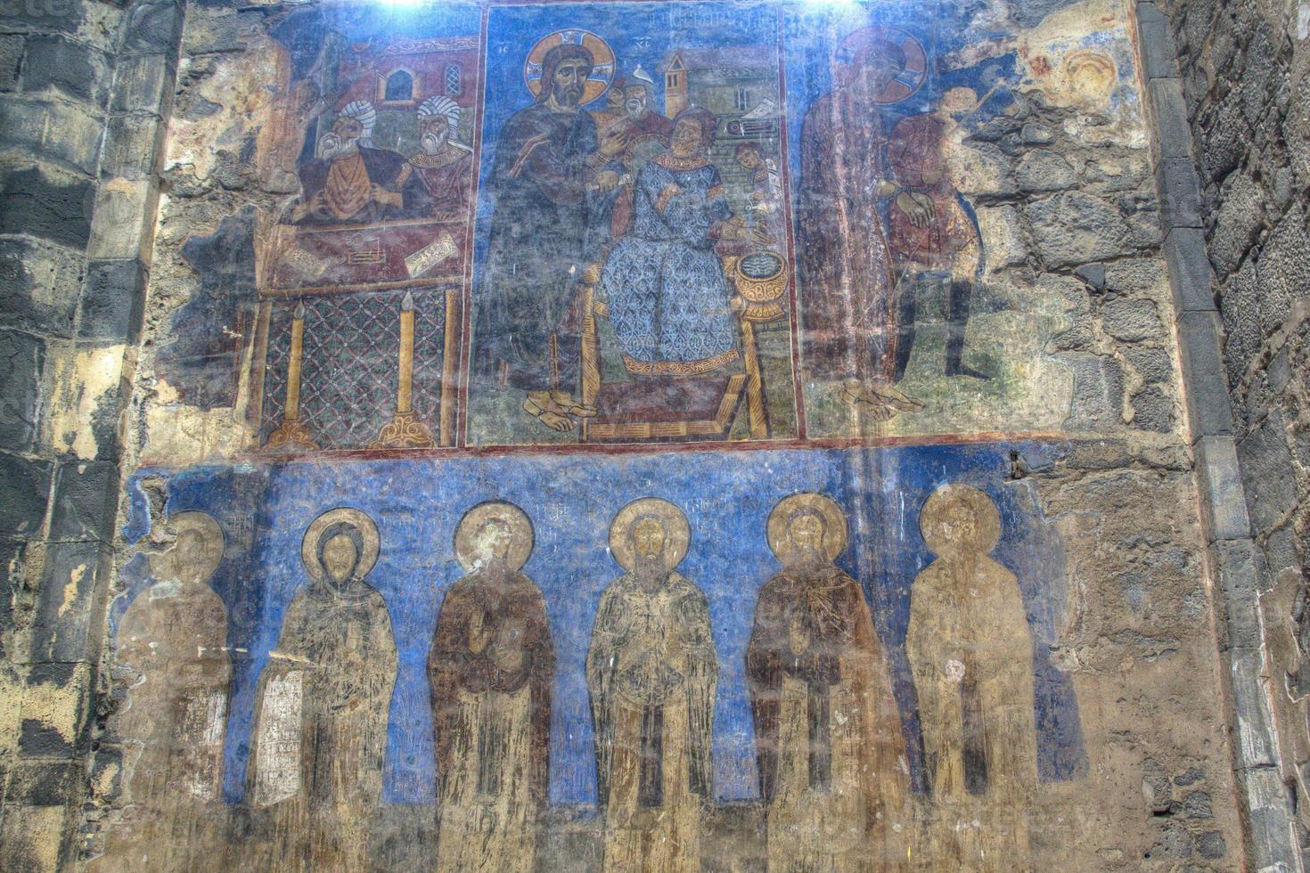 fresco dentro del monasterio akhtala foto
