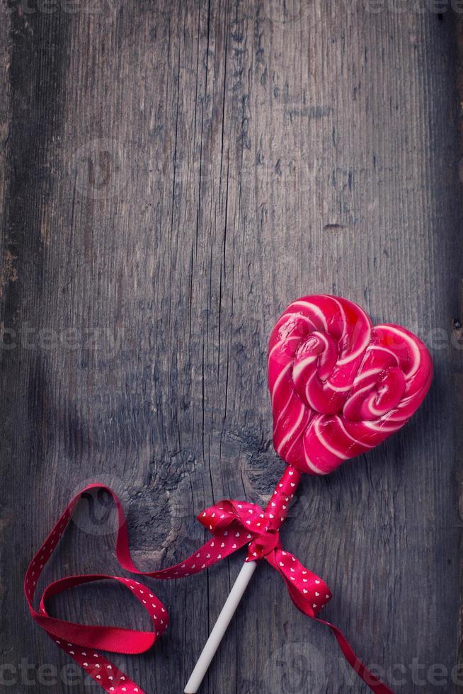 piruleta de corazón foto
