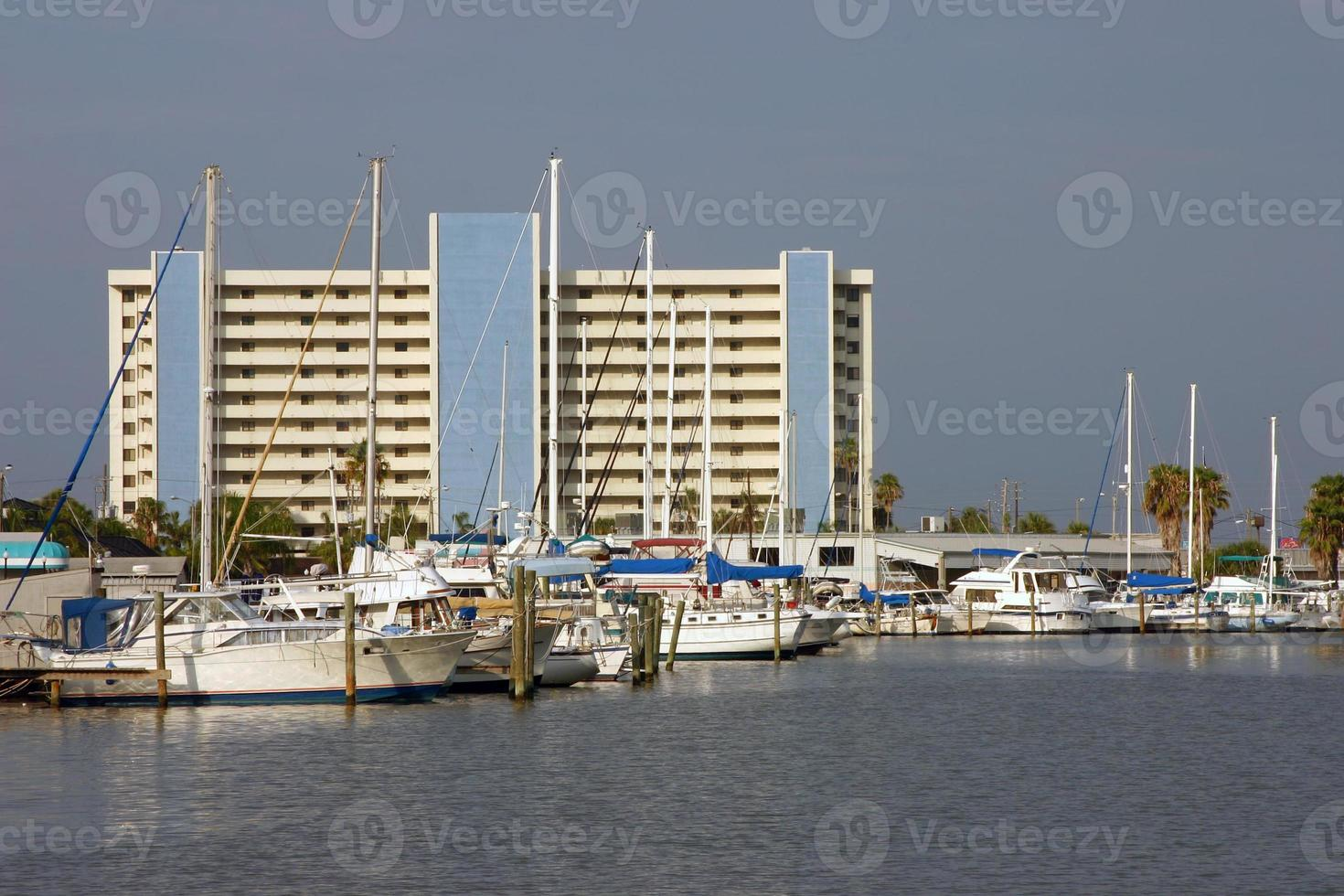 Sailboats in the harbor photo
