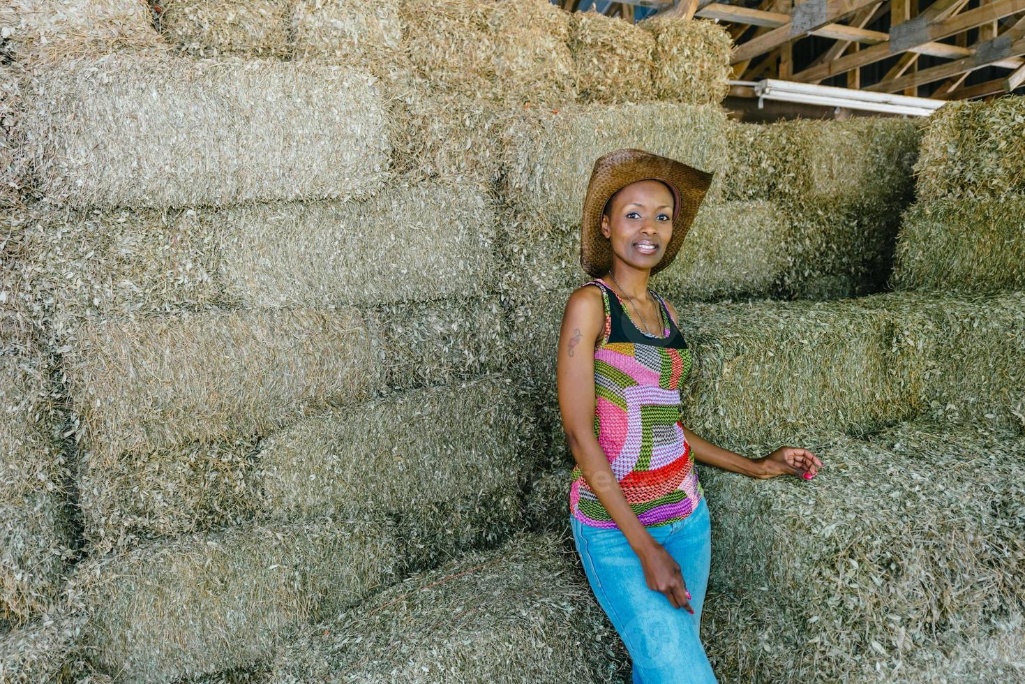 mujer de granja foto