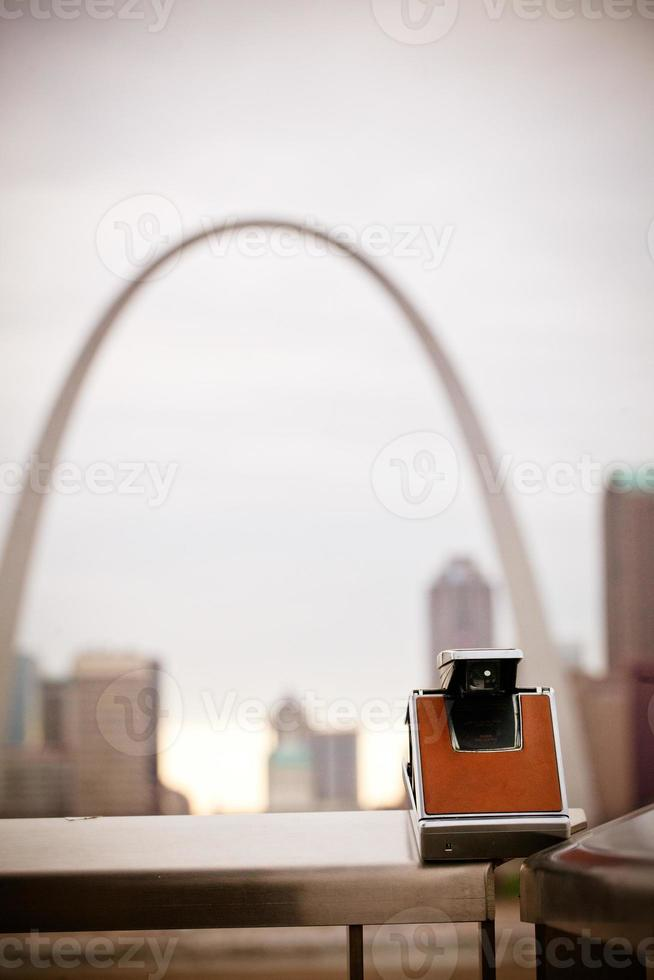 vista do arco gateway - st louis, missouri foto
