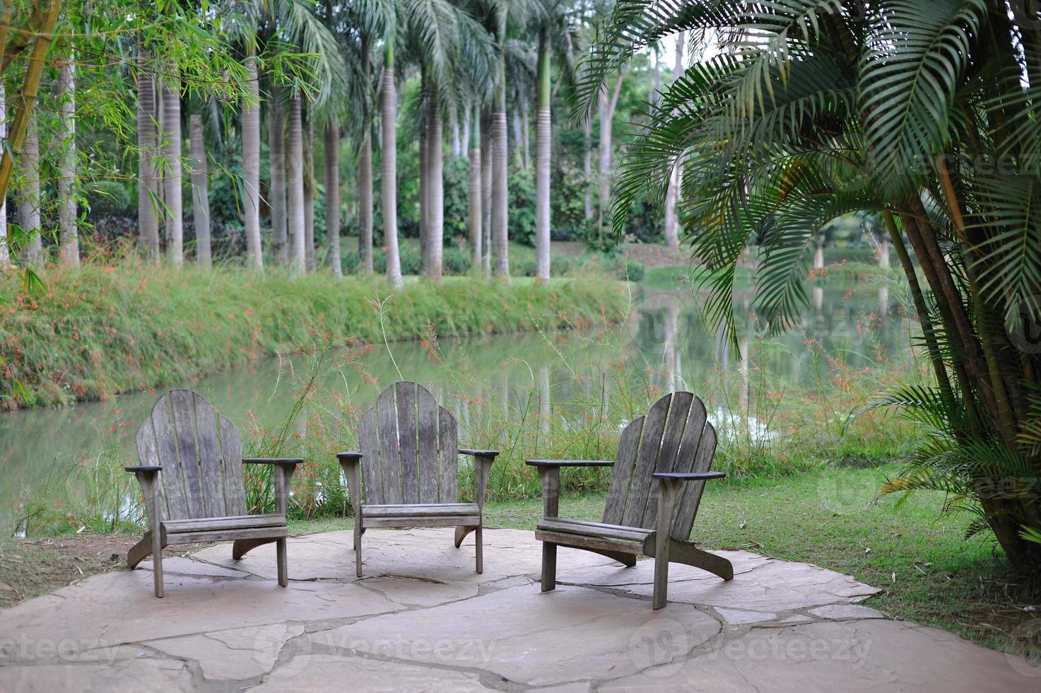 zithoek in een Braziliaans park foto