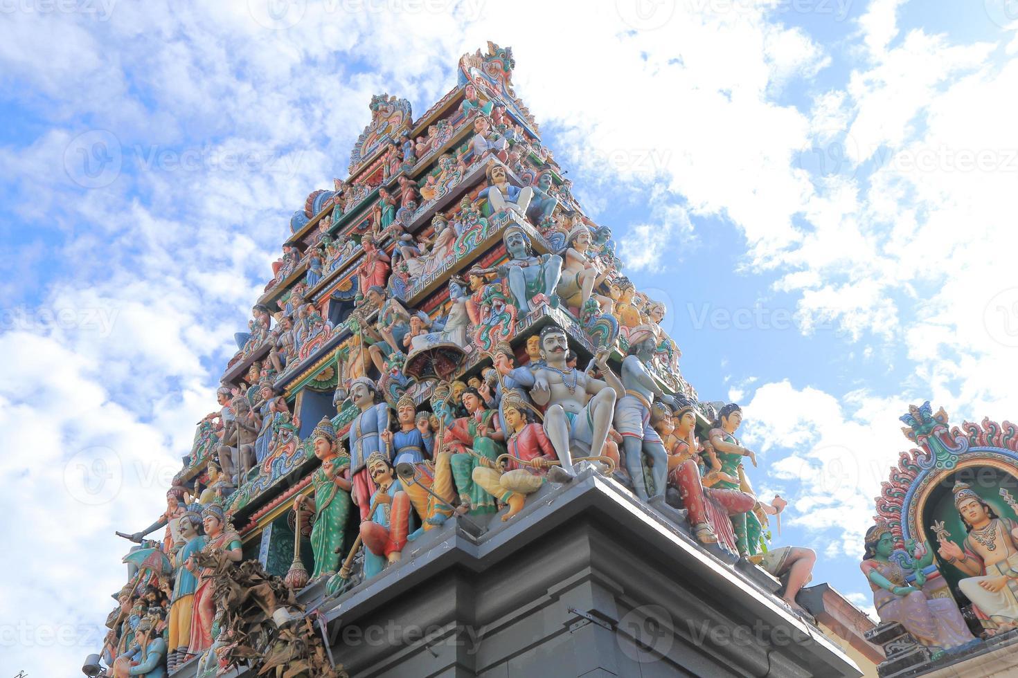 templo de sri mariamman singapur foto