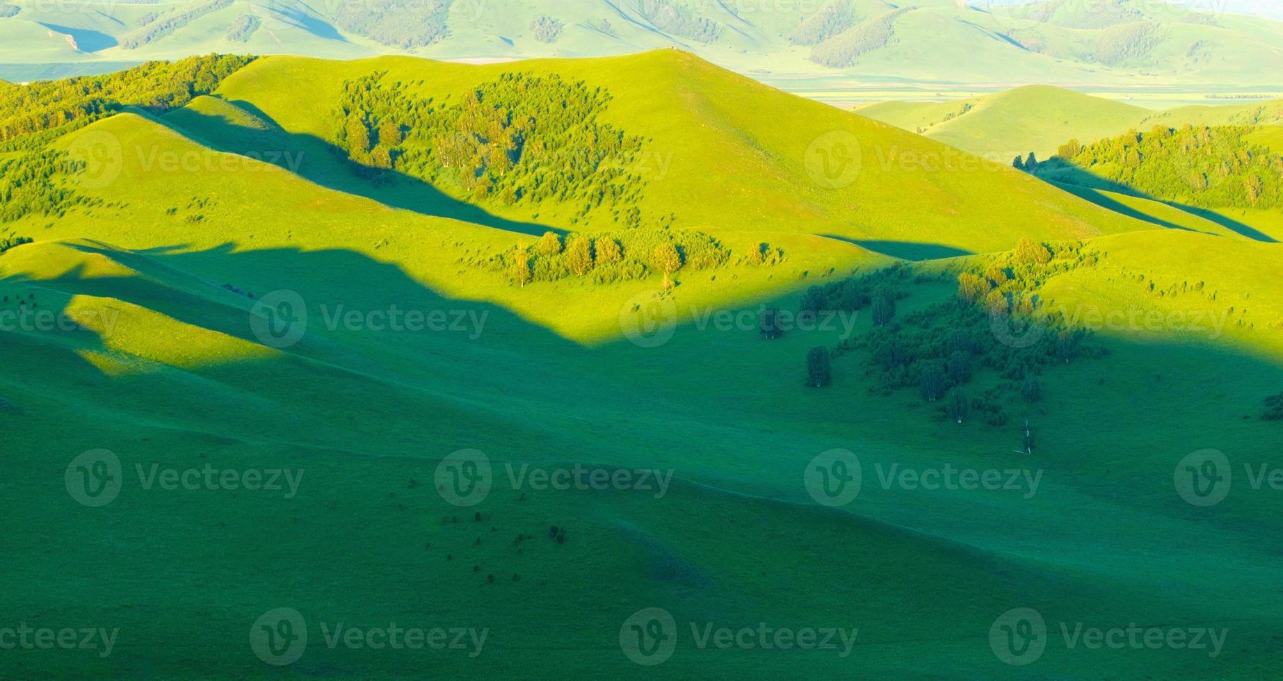 Hermoso paisaje de verano. foto