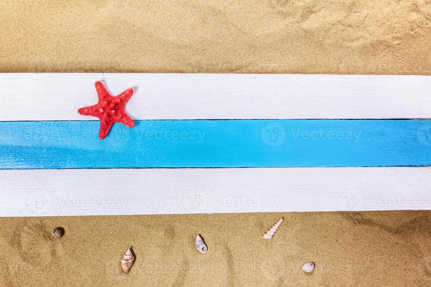 escena de playa de verano foto