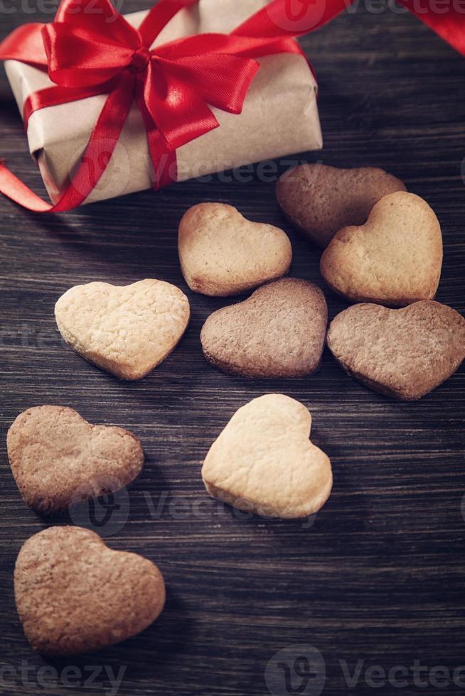 Heart shape cookies photo