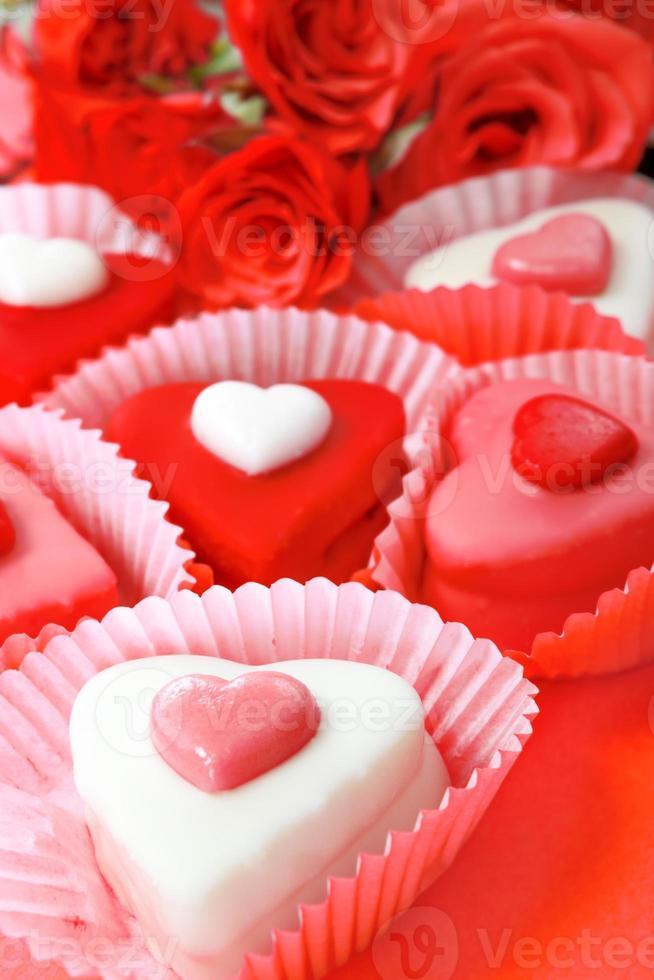 Heart shaped sweets photo