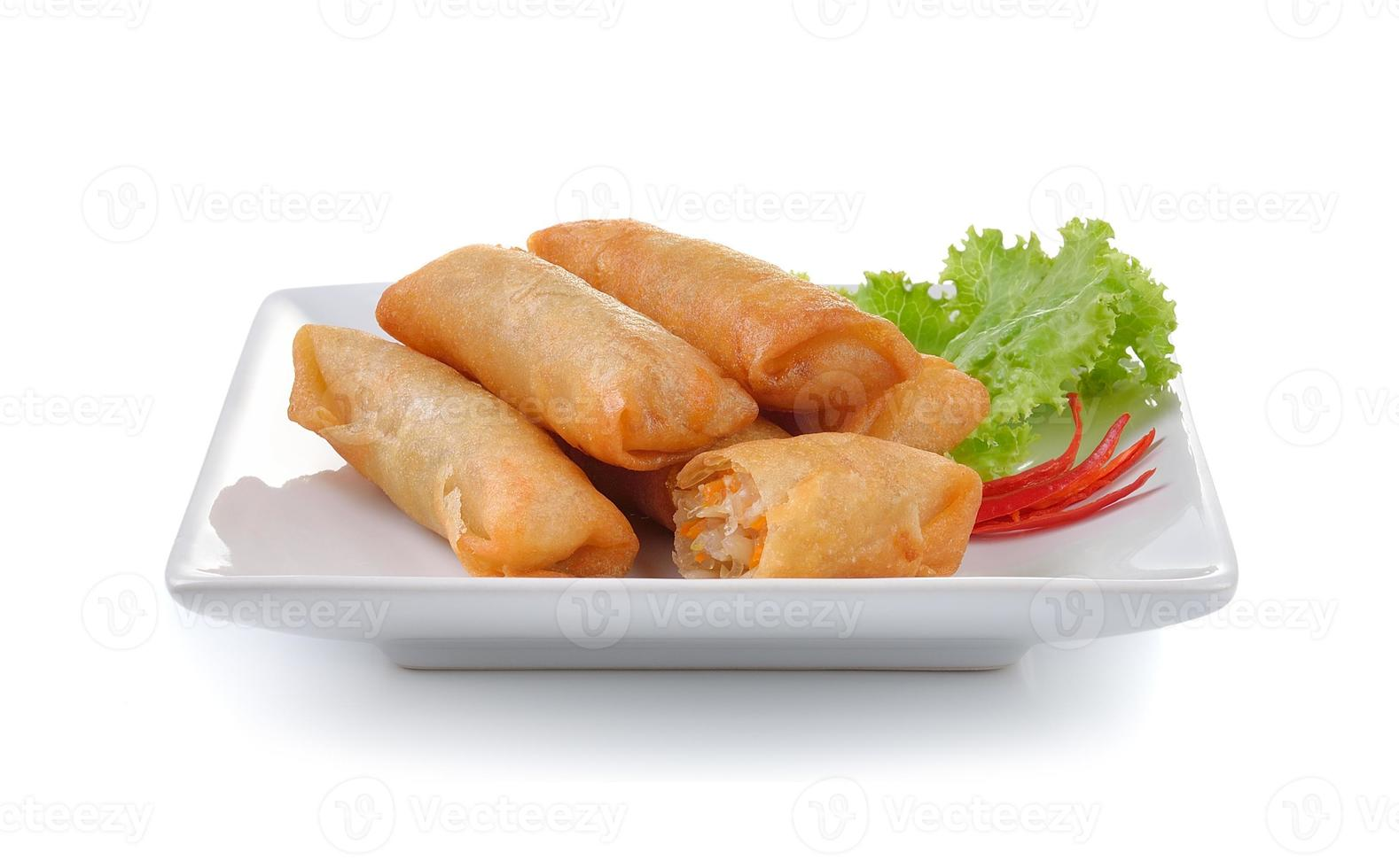 rollito de primavera chino frito para aperitivo foto