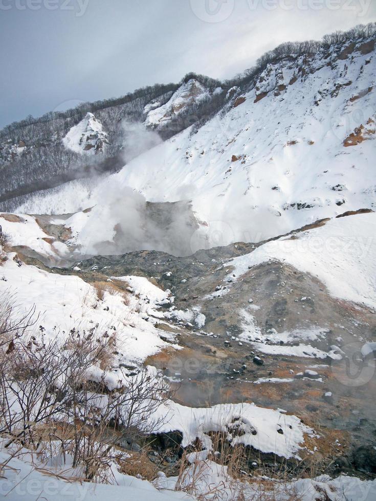 noboribetsu jigokudani valle del infierno foto