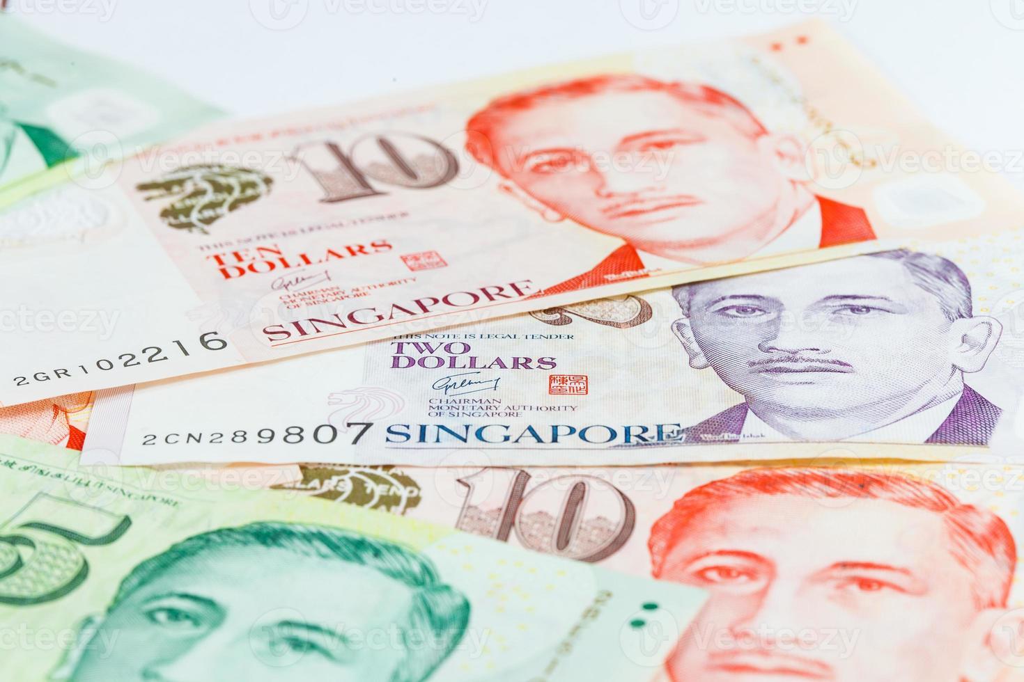 nota de dólares de Singapur foto