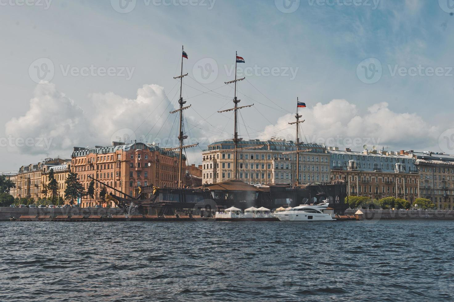 City of St. Petersburg, view from the motor ship 1131. photo
