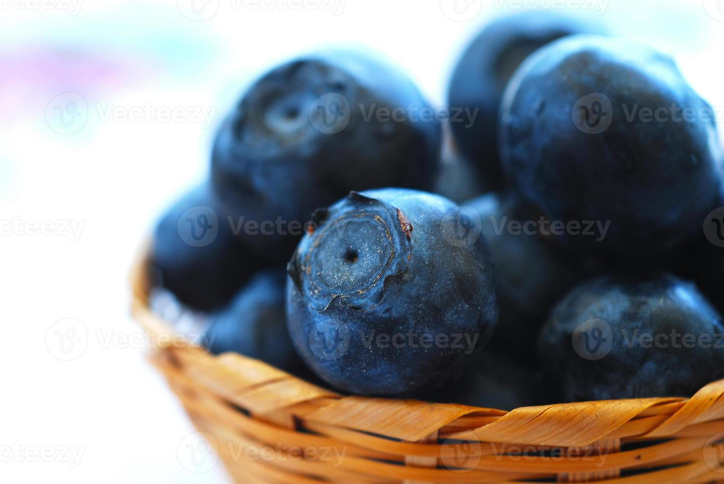 Ripe blueberries in a bowl. photo