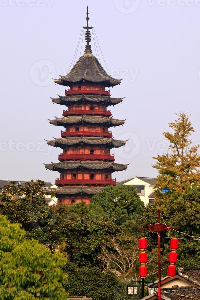 La pagoda ruigang se remonta a la dinastía Song China de Suzhou foto