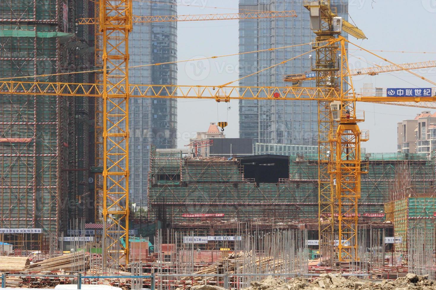sitio de construcción chino foto