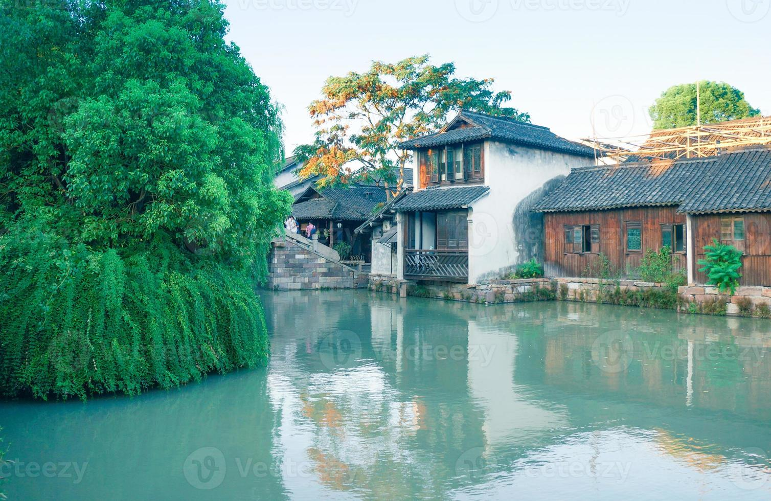 paisaje de wuzhen en china foto