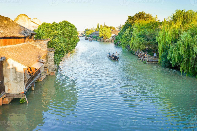 paisaje wuzhen en china foto