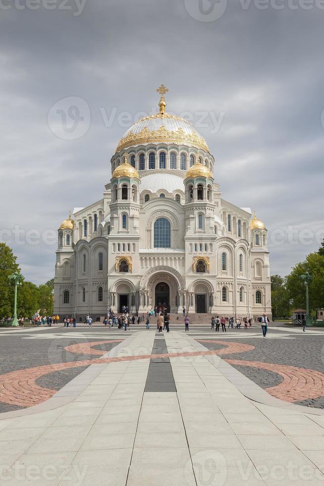 The Naval cathedral of Saint Nicholas in Kronstadt, St. Petersbu photo