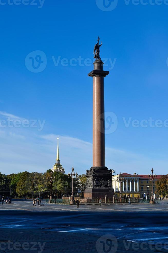 Alexander column in St. Petersburg, Russia photo