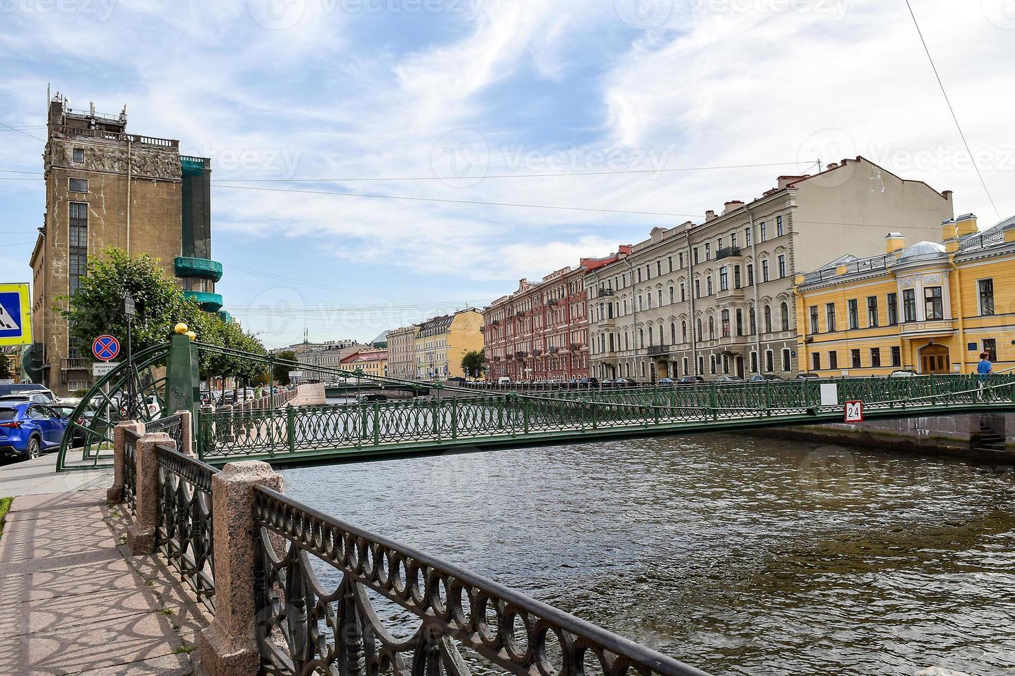 Pochtamtsky bridge in Leningrad, USSR photo