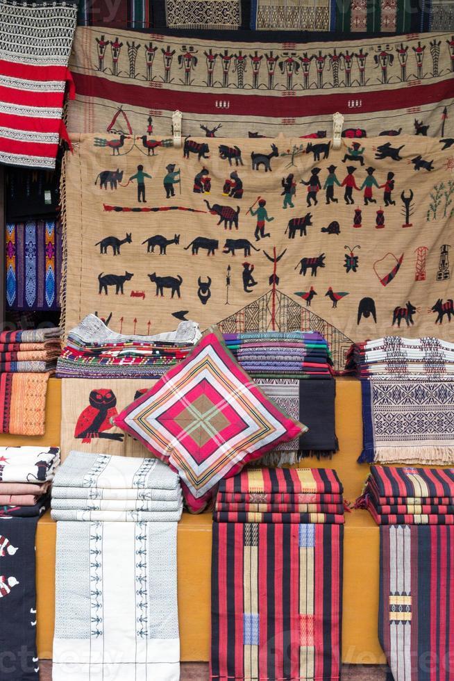 Burmese fabrics photo