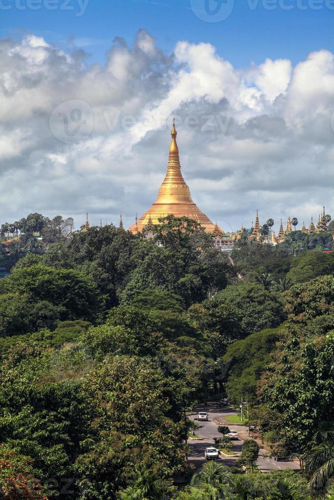 Shwedagon Pagoda in Yangon , Myanmar photo