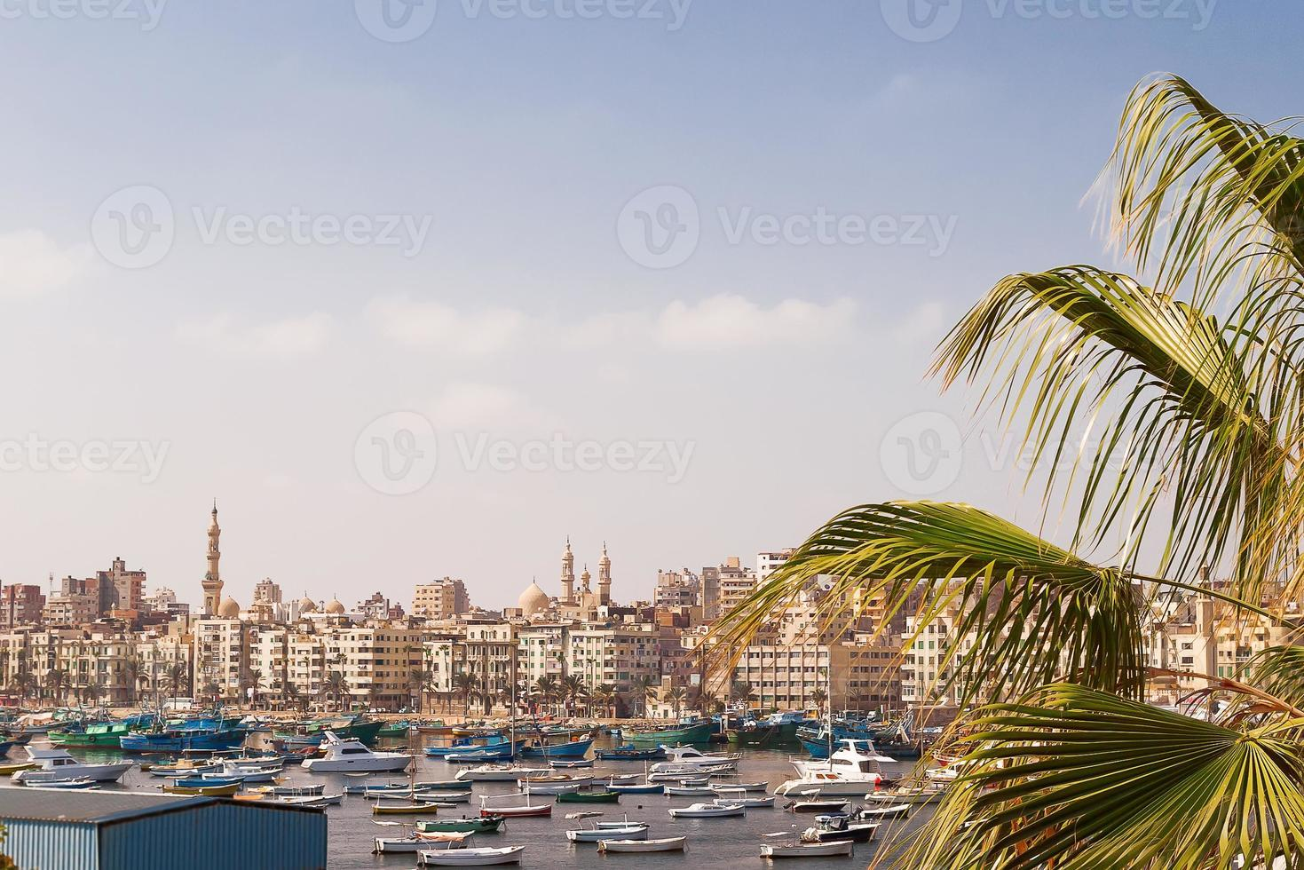 Panorama view of Alexandria, Egypt. photo