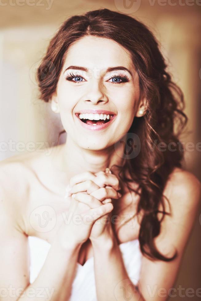 Charming young beautiful bride. photo