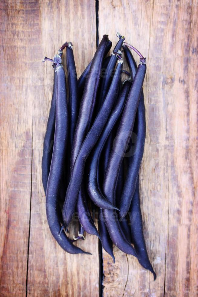 Blue asparagus beans photo