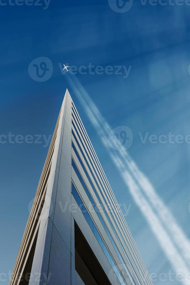 Jet Trail Across Sky photo