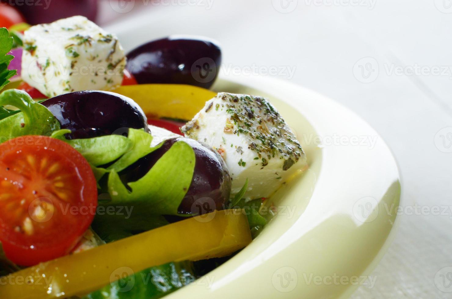 Homemade greek salad photo