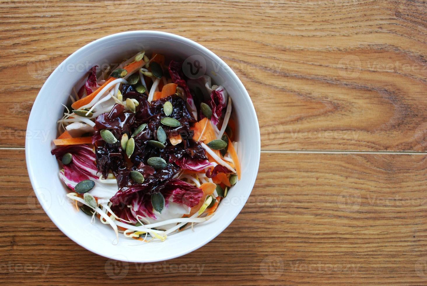 Spring salad bowl photo