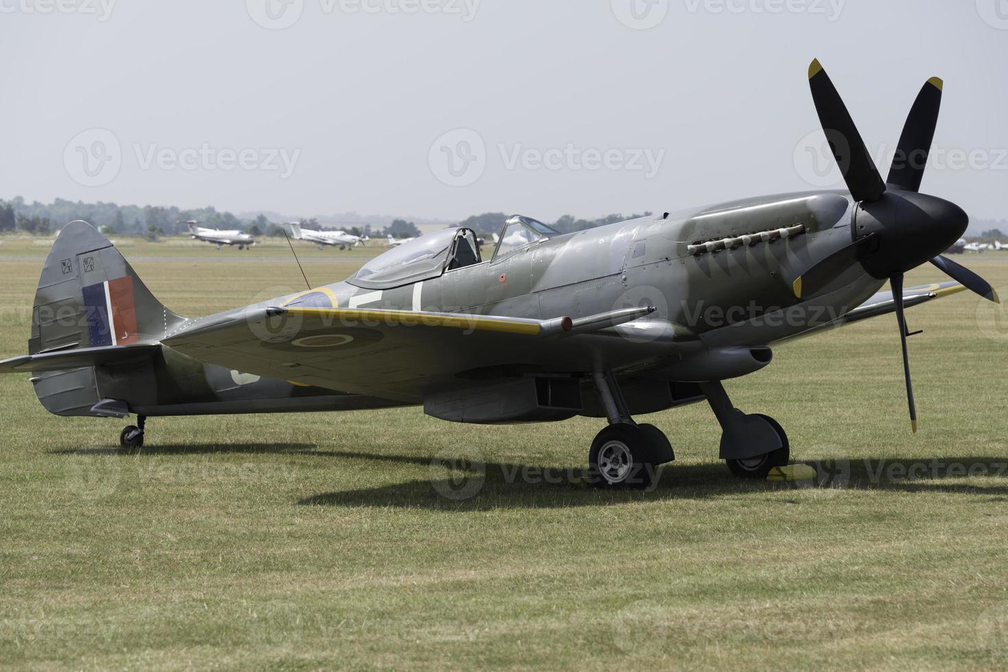 Vintage Spitfire fighter photo