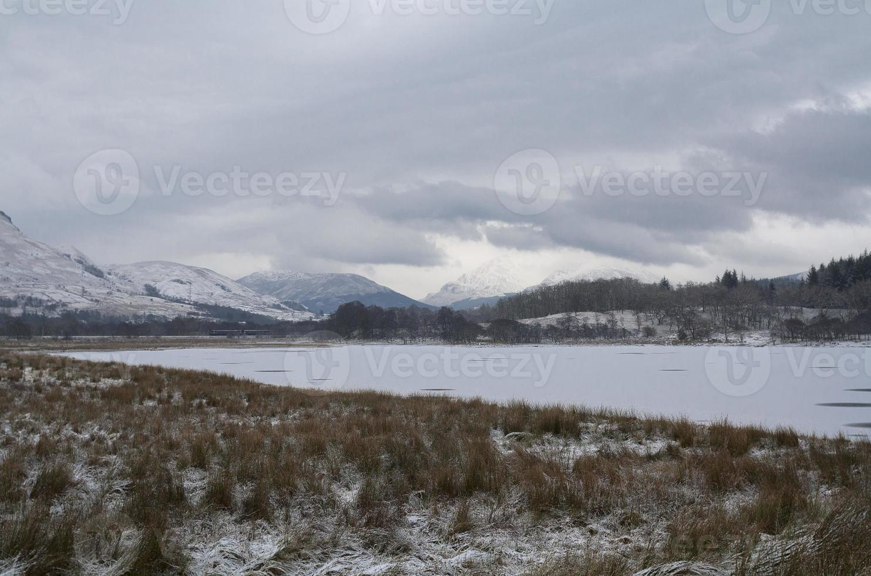Gloomy Scottish landscape photo