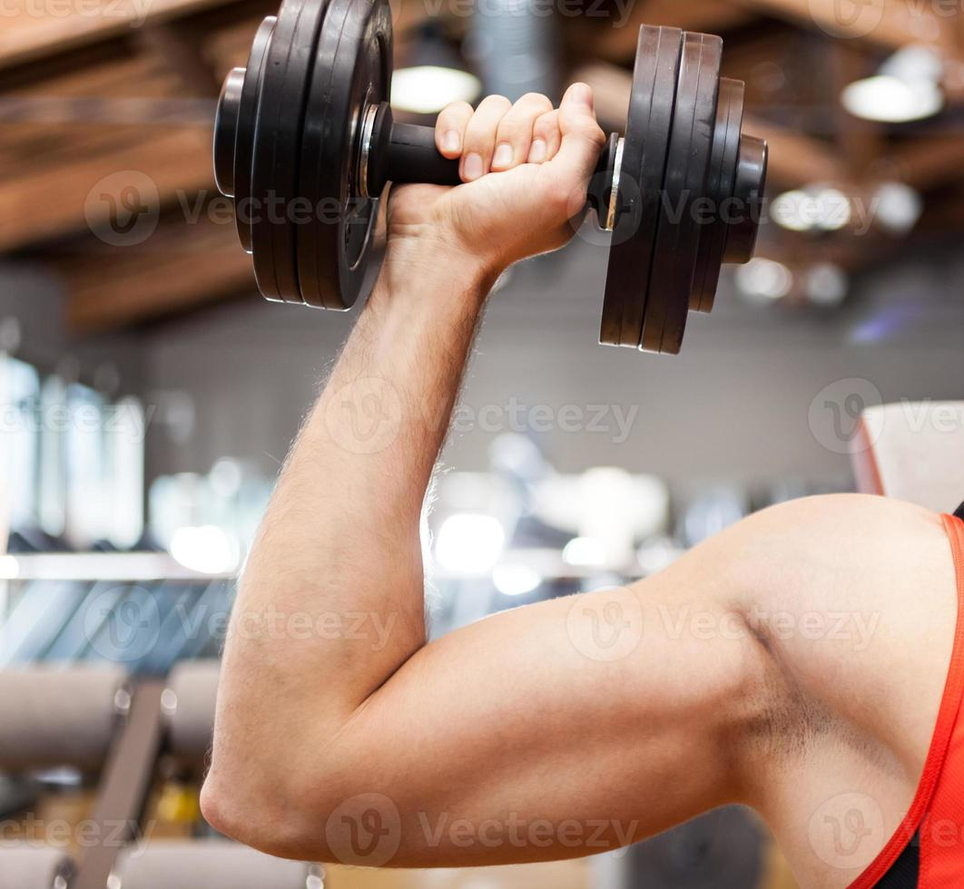 Bodybuilder working out photo