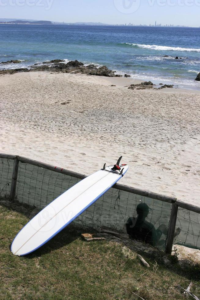 Beach Board Waiting 2 photo