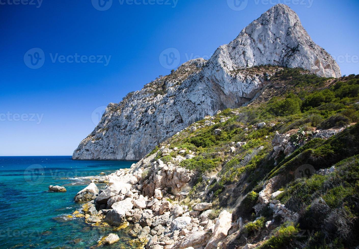 Cliff and sea landscape photo