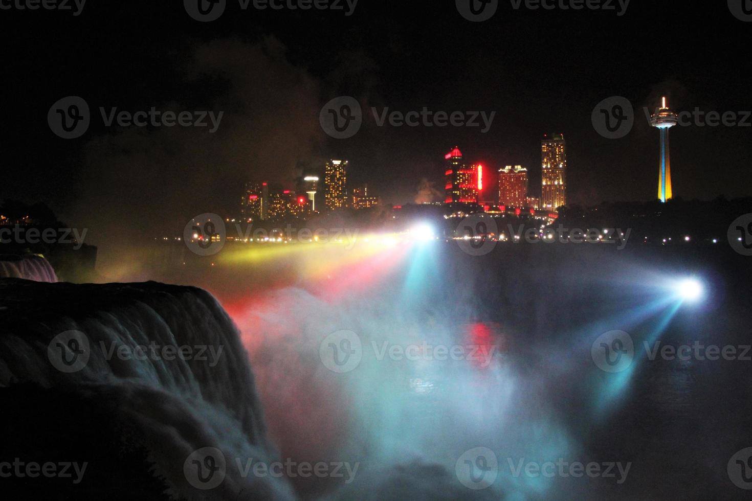 Niagara Falls at night photo