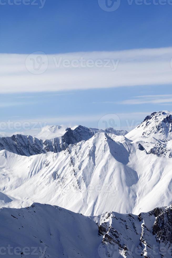 Winter mountains photo