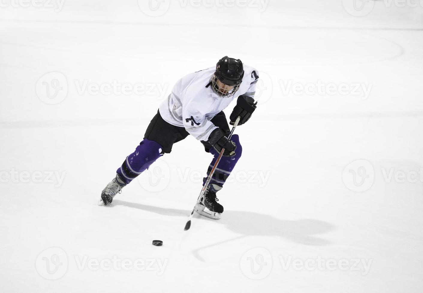 Ice hockey player photo