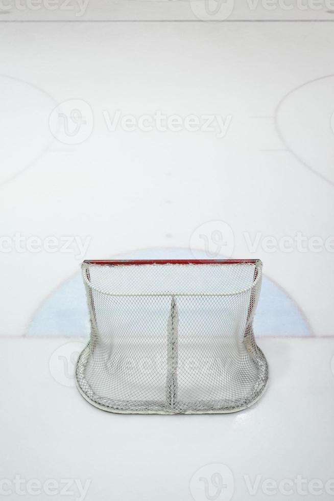 empty ice hokey net photo