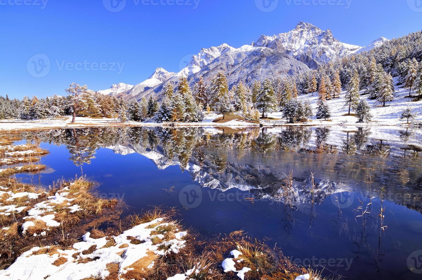 hermoso paisaje en suiza foto