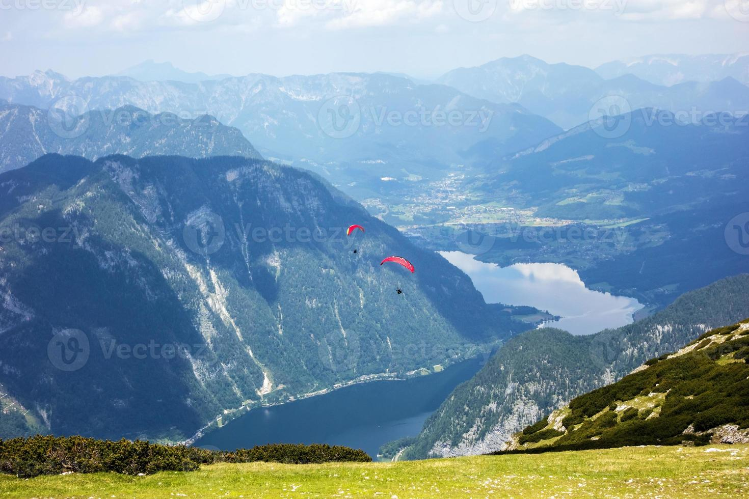 Paragliding at the Dachstein Mountains photo