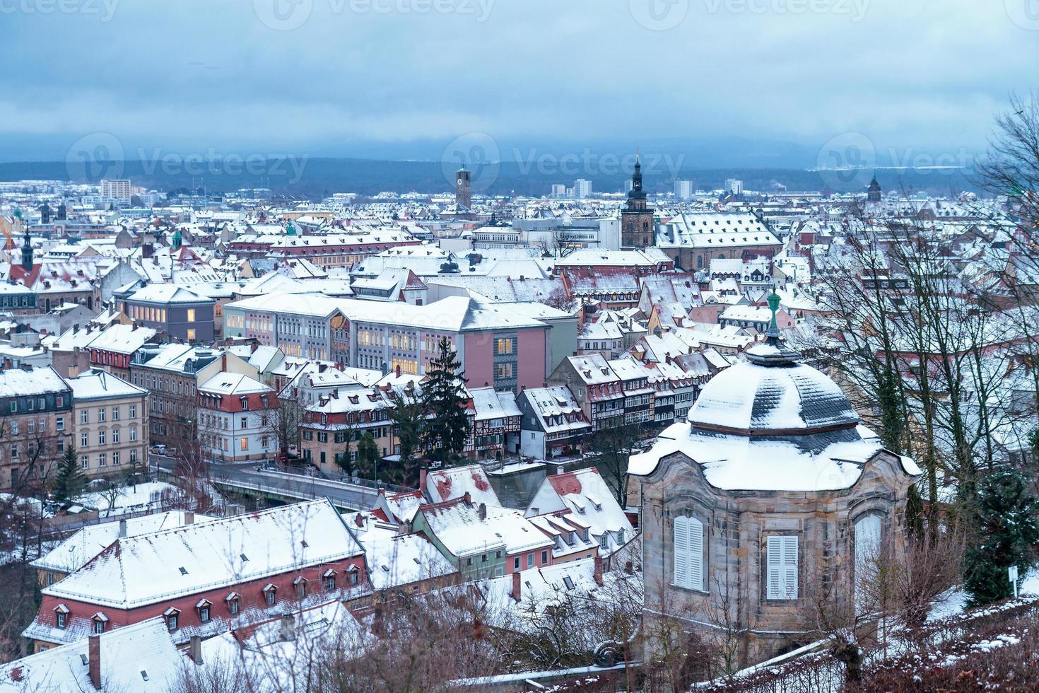 ciudad de invierno de bamberg foto