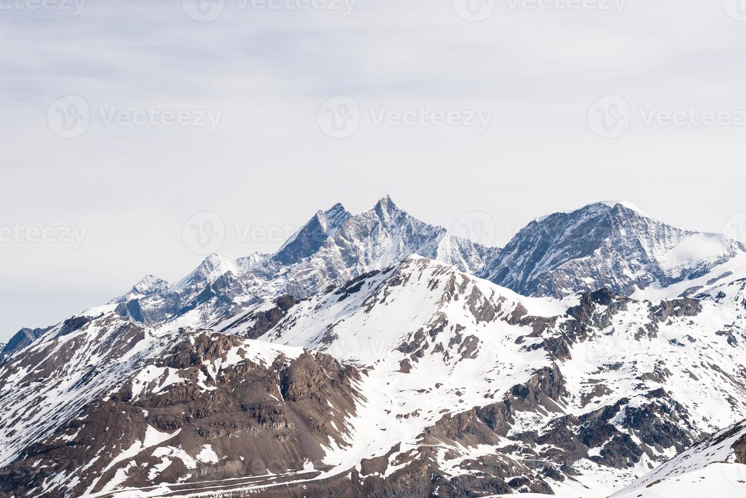 Mountains in winter photo