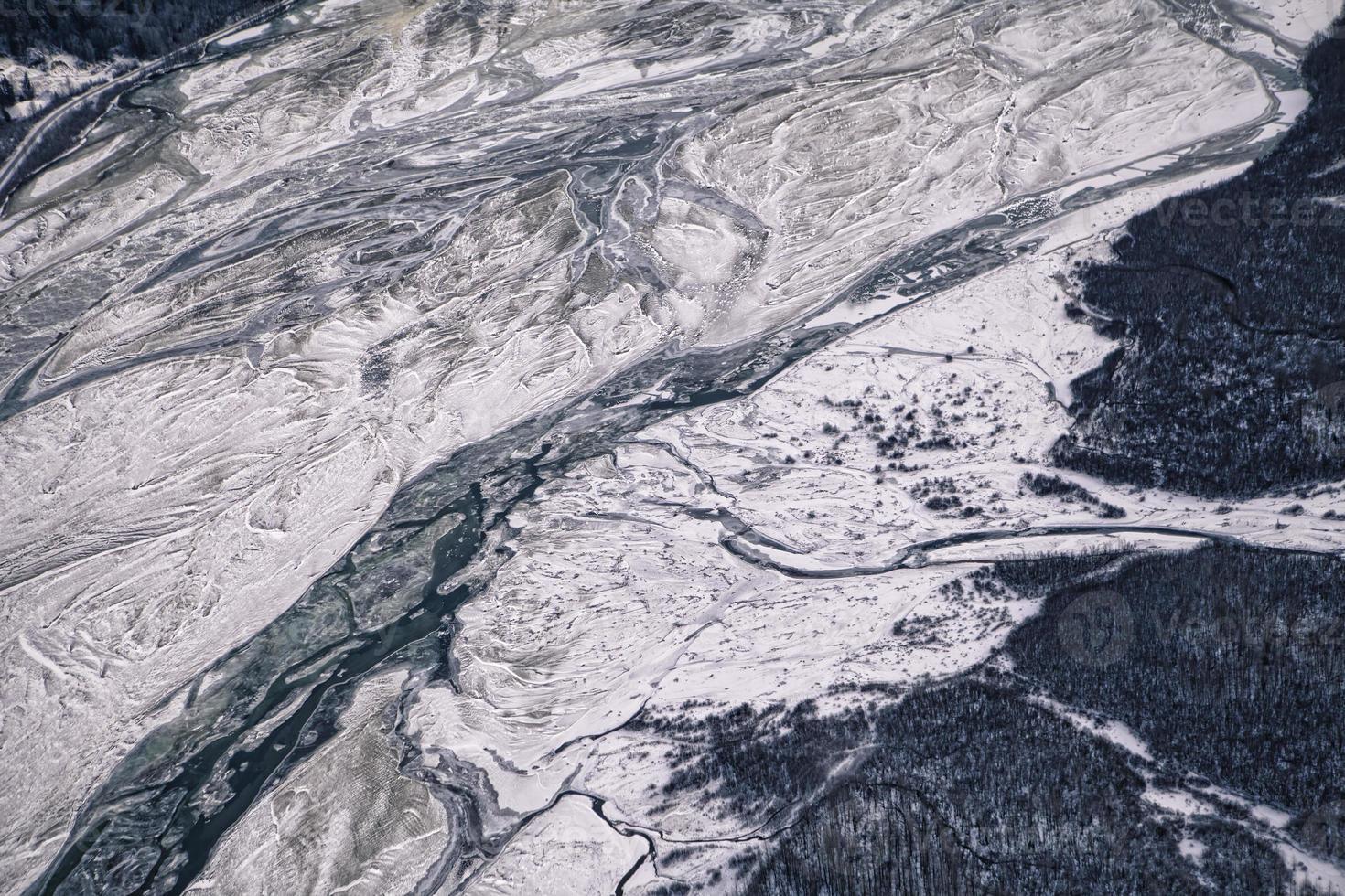 río Chilkat en invierno foto