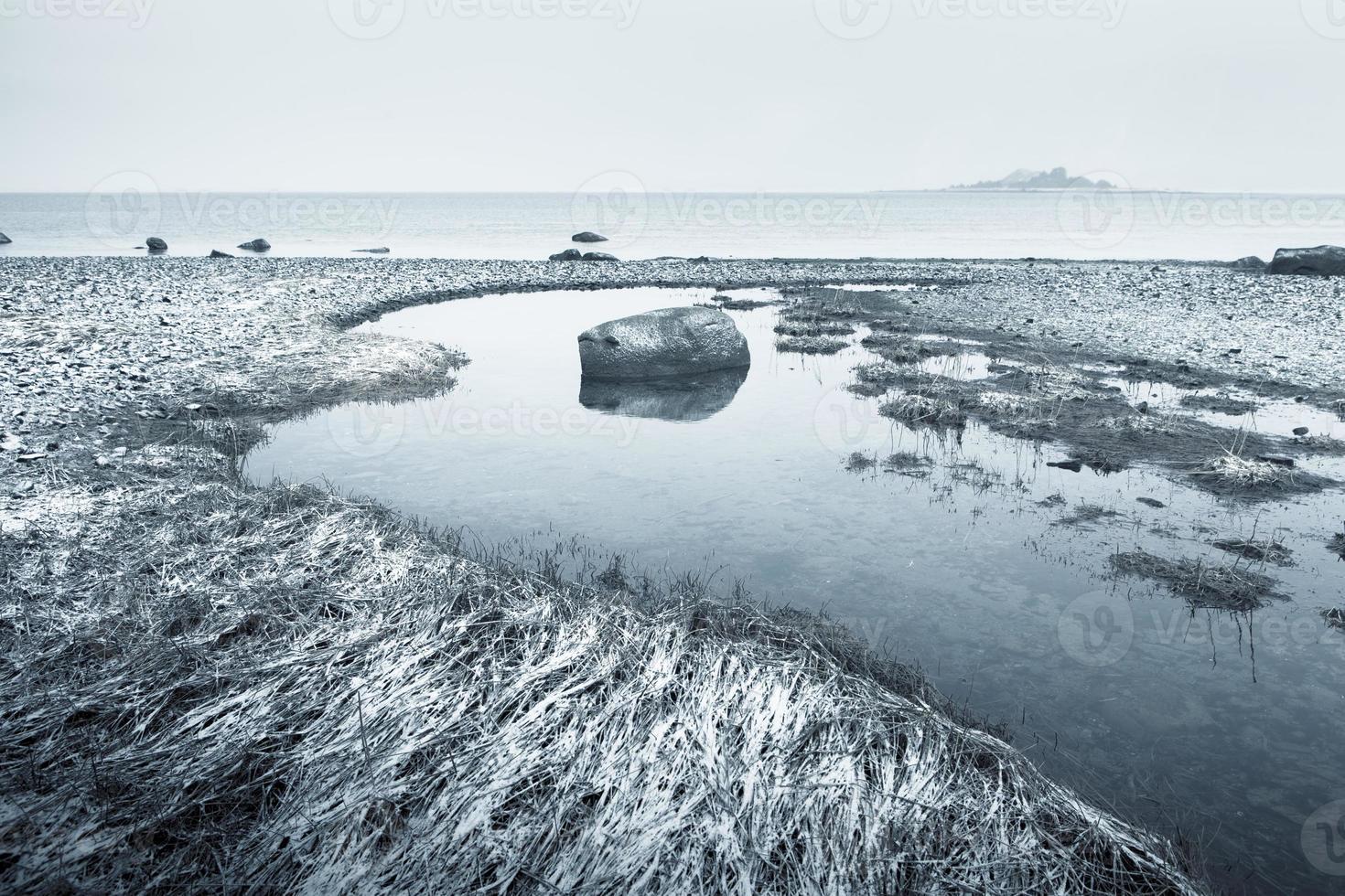 playa de invierno foto