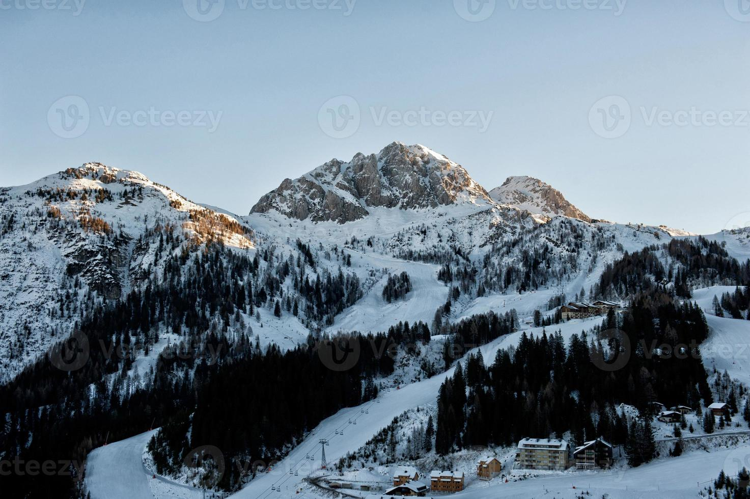 Alps in winter photo