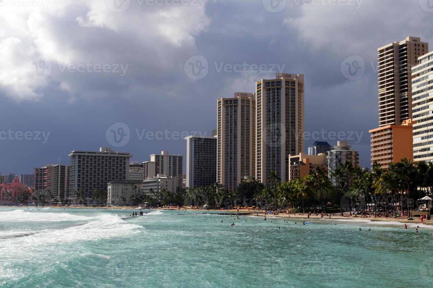 Playa Waikiki, Honolulu, Oahu, Hawaii foto